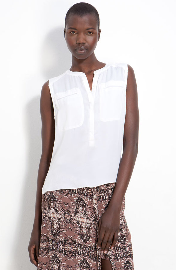 A.L.C. 'Aldea' Washed Silk Top