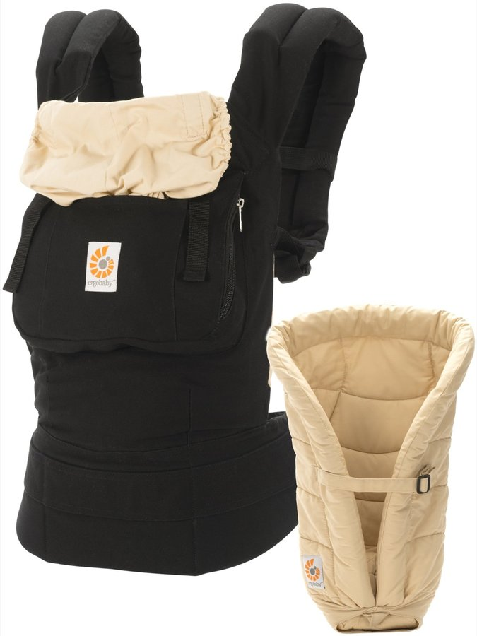 Ergo Ergobaby Original Baby Carrier & Insert - Black/Camel - One Size