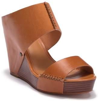 Trask Riki Platform Wedge Leather Sandal