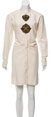 Dries Van Noten Long Sleeve Midi Dress