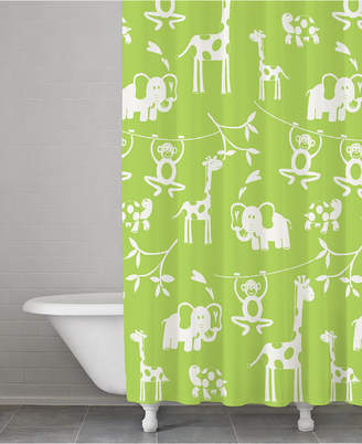 Kassatex Kassa Kids Cotton Jungle Shower Curtain Bedding