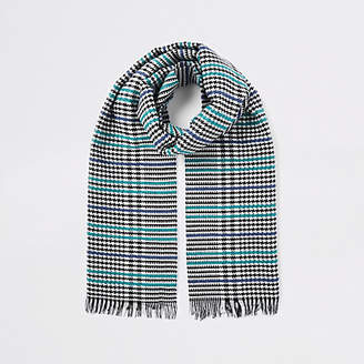 River Island Womens Black boucle check scarf