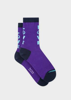 Paul Smith Women's Purple 'Love' Socks