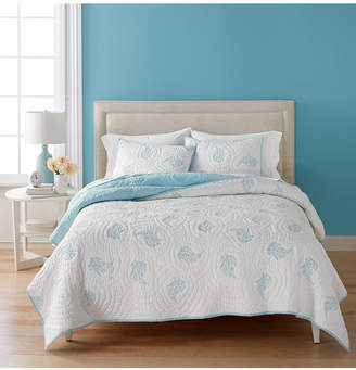 Martha Stewart Collection Closeout! Collection Cotton Pleasant Fields Reversible King Quilt, Created for Macy's