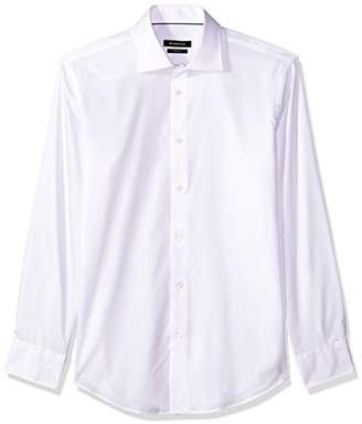 Bugatchi Men's Tailored Fit Soft Finished Pointed Collar Dress Shirt