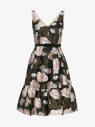 Erdem sleeveless floral jacquard A-line silk blend mini dress