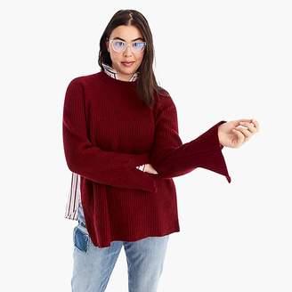 J.Crew Collection cashmere crewneck tunic sweater