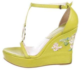 Christian Dior Leather Platform Wedges