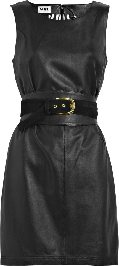 ALICE by Temperley Mara leather shift dress