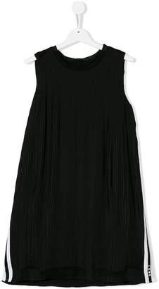 DKNY micro pleated sleeveless dress