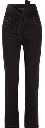 Y/Project Y Project Tie-Front High-Rise Straight-Leg Jeans