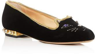 Charlotte Olympia Women's Embellished Kitty Flats