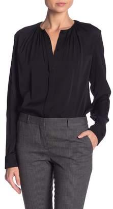 BOSS Banora Long Sleeve Silk Blend Blouse