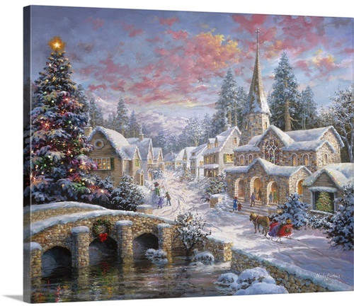 The Holiday Aisle 'Heaven on Earth' Painting Print on Wrapped Canvas
