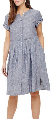 Phase Eight Samara Linen Dress, Steel Blue