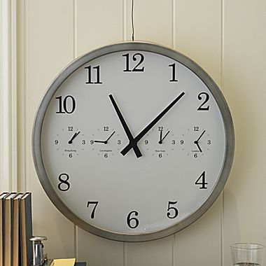 Linden Street® Time-Zone Clock