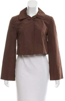 Miu Miu Cropped Long Sleeve Jacket