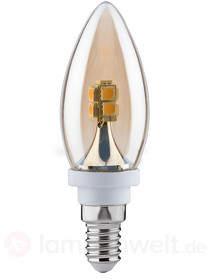 E14 2,5W 826 LED Kerzenlampe Gold