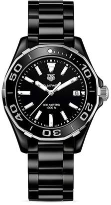 Tag Heuer Stainless Steel and Ceramic Aquaracer Watch, 35mm