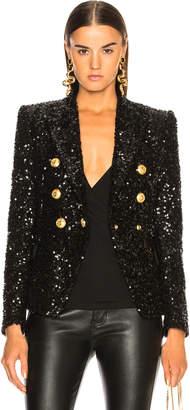 Balmain Sequin Double Breasted Blazer
