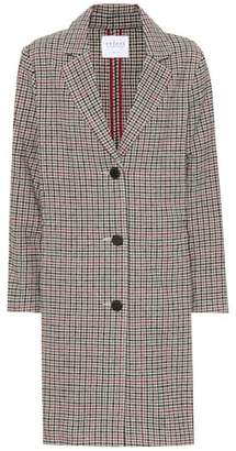 Velvet Graham houndstooth wool-blend jacket