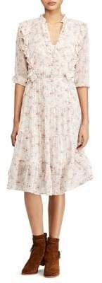Polo Ralph Lauren Floral Ruffle Fit-and-Flare Dress