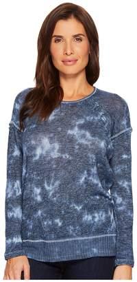 Tribal Sweater Knit Jersey Drop Shoulder Long Sleeve Top Women's Sweater