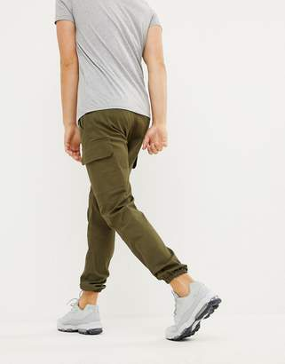 Sixth June utility cargo joggers in khaki