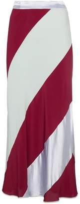 Marni Silk Diagonal Striped Skirt