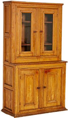 Rejuvenation Petite 19th Century Pine Cabinet w/ Painted Wood Grain