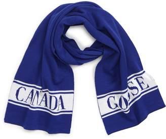 Canada Goose Merino Wool Logo Scarf