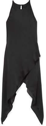 Gareth Pugh Draped Silk-chiffon Top - Black