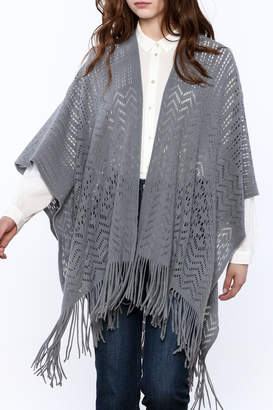 Twos Company Two's Company Fringe Wrap Sweater