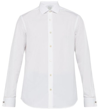 Paul Smith Artist Stripe Double Cuff Cotton Poplin Shirt - Mens - White
