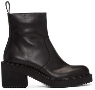 Jil Sander Navy Black Heeled Boots