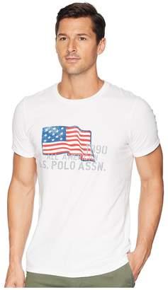 U.S. Polo Assn. USPA Flag Chest Crew Tee Men's Long Sleeve Pullover