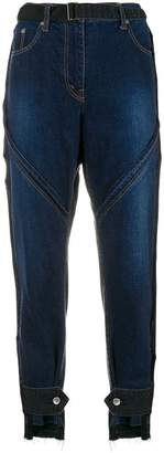 Sacai belted cropped jeans