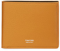 TOM FORD Grained Leather Bi-Fold Wallet $390 thestylecure.com