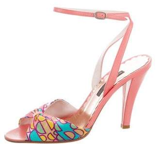 Marc Jacobs Printed Satin Sandals