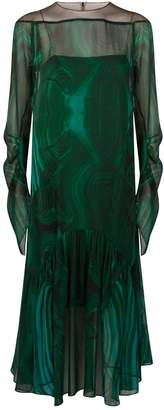 Akris Malachite Silk Dress