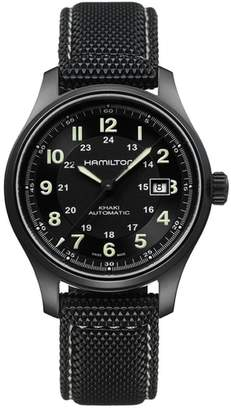 Hamilton Khaki Field Automatic Silicone Strap Watch, 42mm