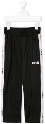 MSGM side logo track pants