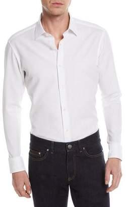 Zegna Sport Solid Jacquard Sport Shirt