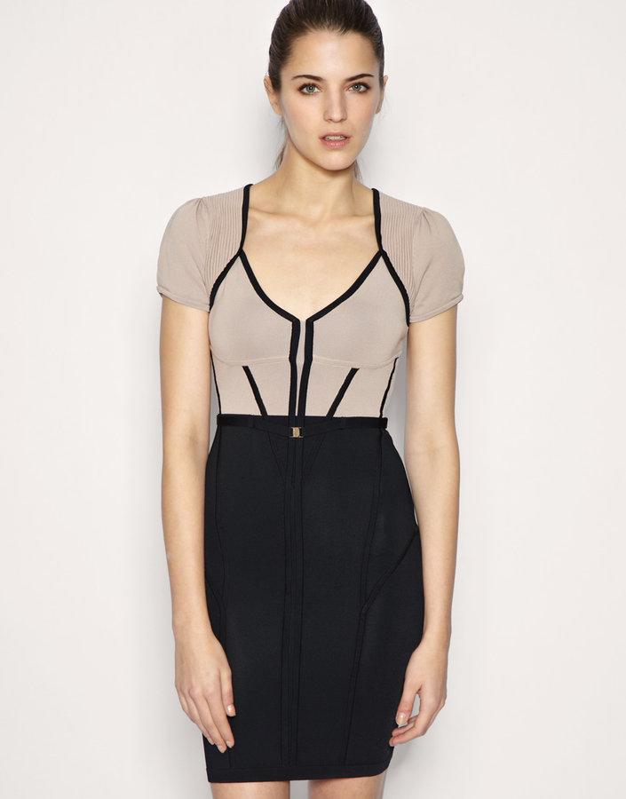 Karen Millen Body-Conscious Corset Knitted Dress