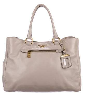 d9af36ae8a08 ... australia pre owned at therealreal prada soft calf shopping tote f70b4  5b9f5