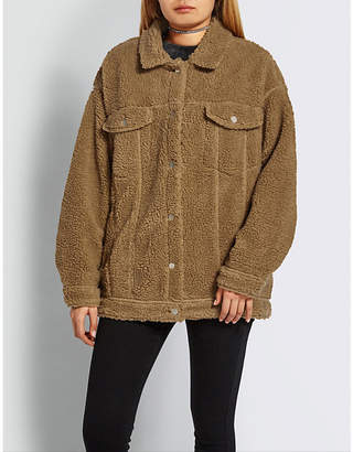 Missguided Oversized teddy-bear jacket