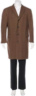 Burberry Wool Houndstooth Coat