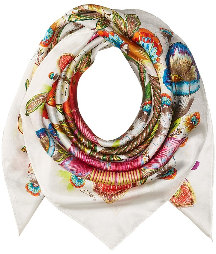 Echo Design - Flora Floral Silk Square Scarf Scarves
