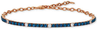 LeVian Le Vian Blueberry (2-1/5 ct. t.w.) & Vanilla (1/3 ct. t.w.) Sapphire Bracelet in 14k Rose Gold (Also Available in Emerald)