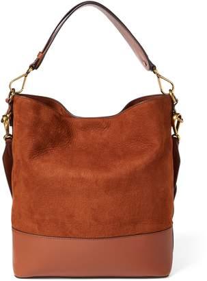 Ralph Lauren Nubuck Leather Hobo Bag